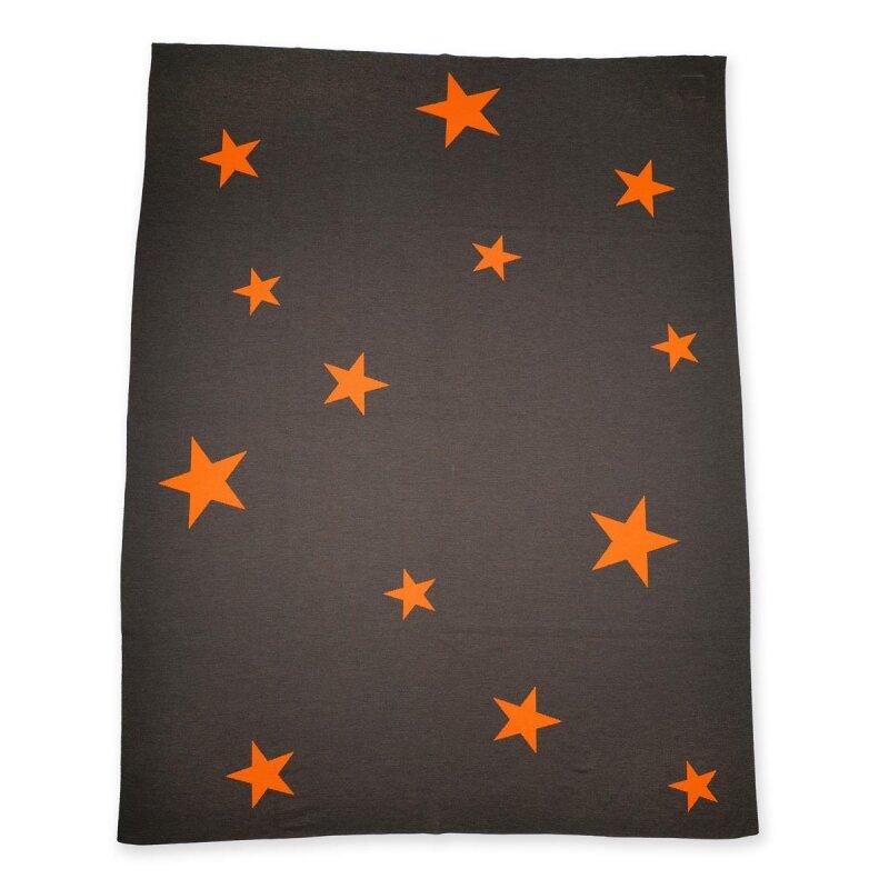 Decke Stars.Decke Stars Braun Orange Von Lenz Leif Lisel De