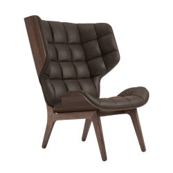 Sessel Mammoth Chair Leder Dark Stained von Norr11 / 5...