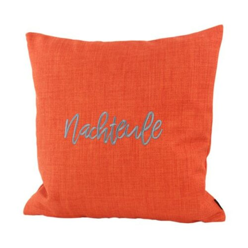 Kissen Brooks Orange Nachteule 45x45cm von Steen Design